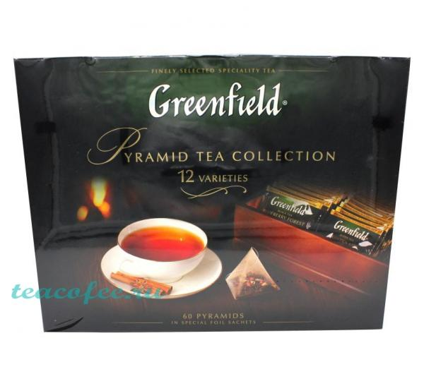 Чай Greenfield Piramid Tea Collection набор ассорти 60 пирамидок Greenfield в магазине ТеаКофее, фото