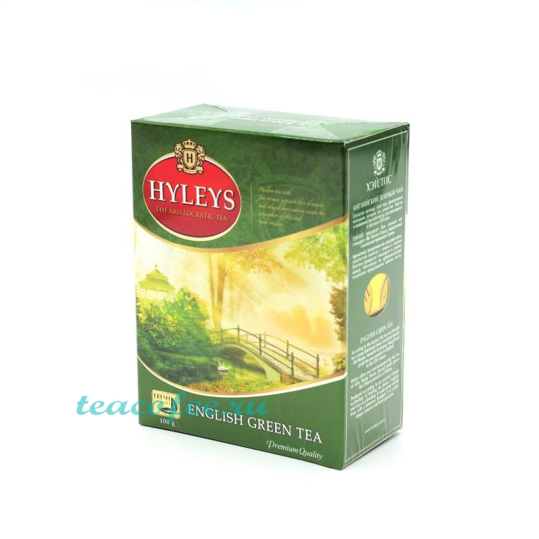 Чай Hyleys English Green Tea зеленый 100 гр. Hyleys в магазине ТеаКофее, фото