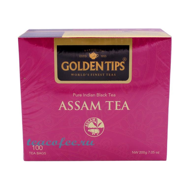 Golden Tips Assam Tea черный 100 пакетов Golden Tips в магазине ТеаКофее, фото