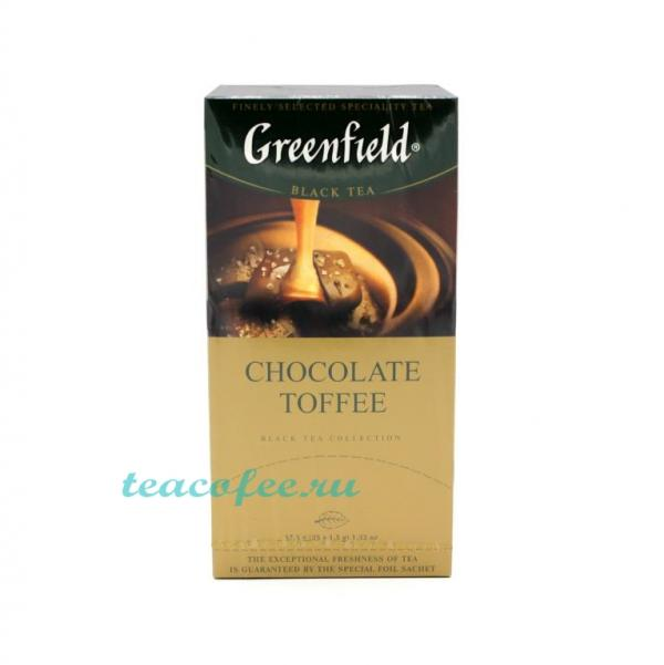 Чай Greenfield Chocolate Toffee 25 пакетиков Greenfield в магазине ТеаКофее, фото