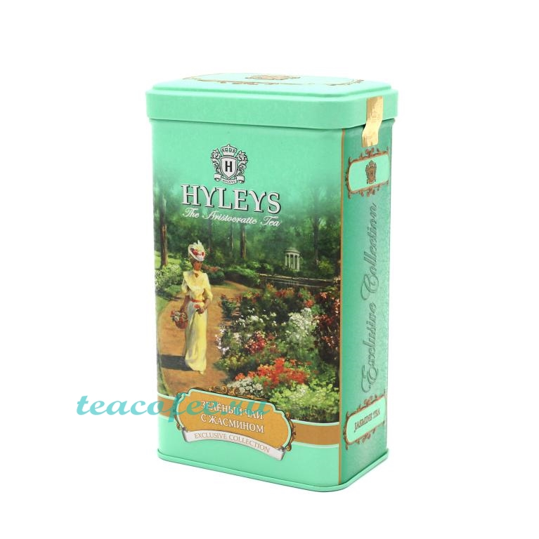 Чай Hyleys English Green Tea With Jasmine Flowers зеленый 125 гр. (ж/б) Hyleys в магазине ТеаКофее, фото