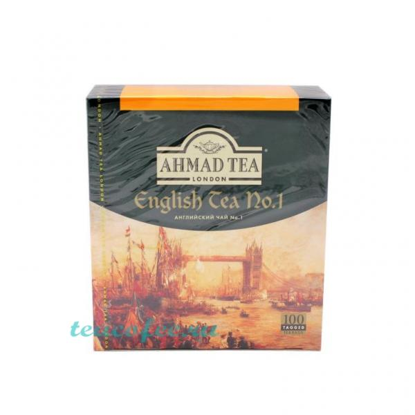 Чай Ahmad Tea English Tea No.1 100 пакетиков Ahmad в магазине ТеаКофее, фото