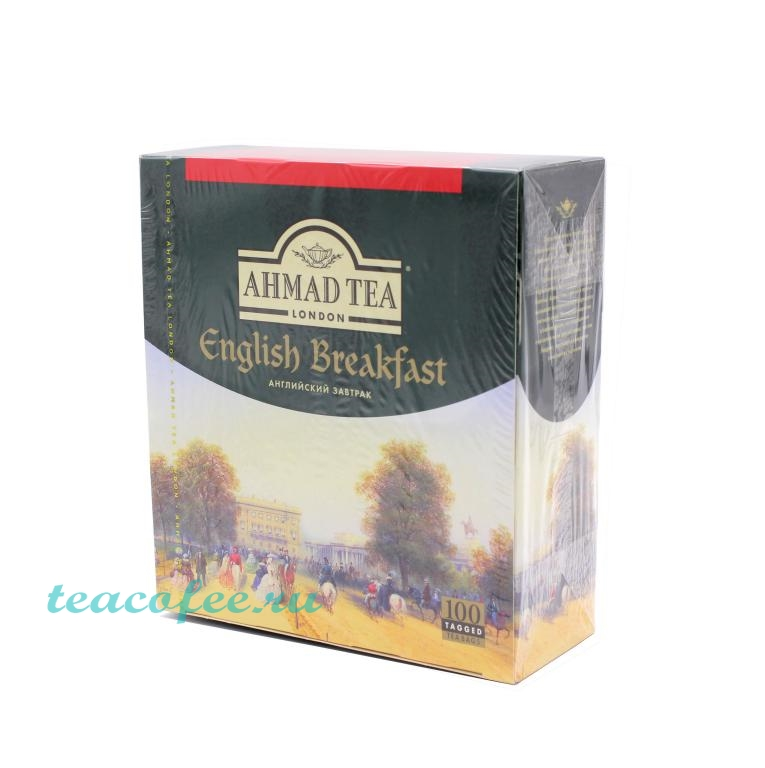 Чай Ahmad Tea English Breakfast Tea 100 пакетиков Ahmad в магазине ТеаКофее, фото