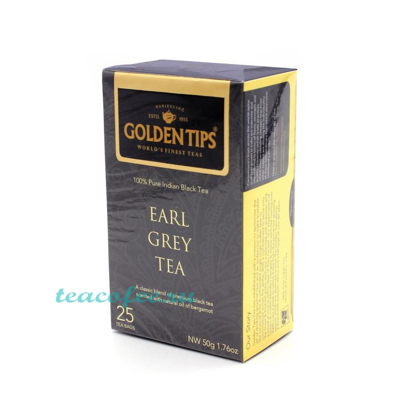 Golden Tips Earl Grey Tea черный 25 пакетов Golden Tips в магазине ТеаКофее, фото