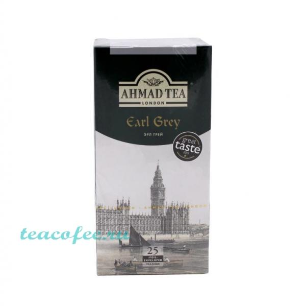 Чай Ahmad Tea Earl Grey 25 пакетиков Ahmad в магазине ТеаКофее, фото
