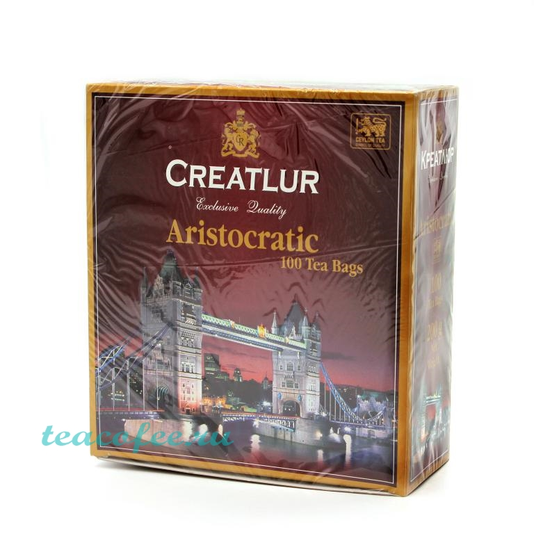 Чай Creatlur Aristocratic 100 пакетиков Creatlur в магазине ТеаКофее, фото