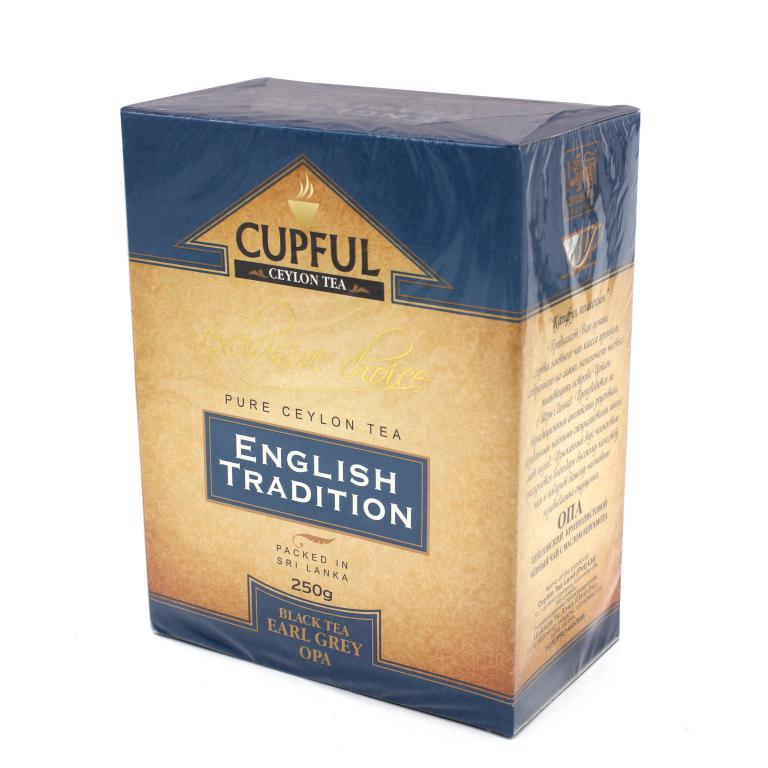 Чай Сupful English Tradition черный с бергамотом 250 гр .(картон) CUPFUL в магазине ТеаКофее, фото