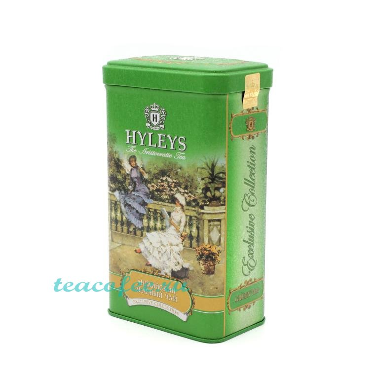 Чай Hyleys English Green Tea зеленый 125 гр. (ж/б) Hyleys в магазине ТеаКофее, фото