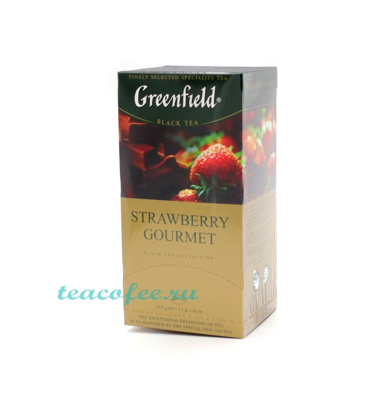 Чай Greenfield Strawberry Gourmet 25 пакетиков Greenfield в магазине ТеаКофее, фото