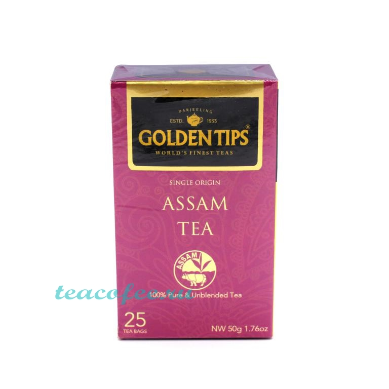 Golden Tips Assam Tea черный 25 пакетов Golden Tips в магазине ТеаКофее, фото