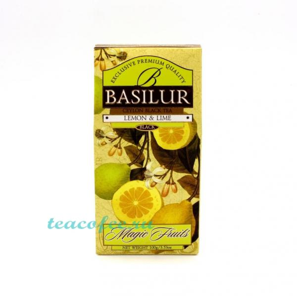 Чай Basilur Lemon & Lime (Лимон и Лайм) черный 100 гр . Basilur в магазине ТеаКофее, фото